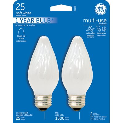 120-Volt (2400K) Incandescent Light Bulb Wattage: 25, Finish: White