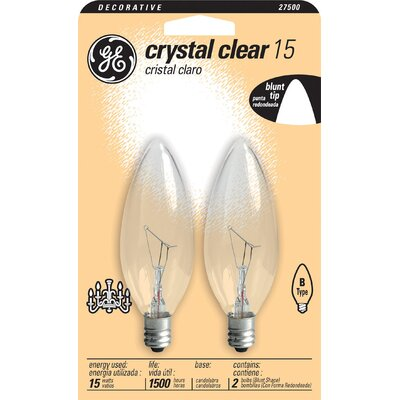 120-Volt (2500K) Light Bulb (Pack of 2) Wattage: 15