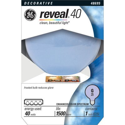 40W 120-Volt (2550K) Light Bulb Finish: Reveal Clear