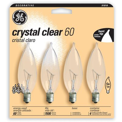 60W 120-Volt Incandescent Light Bulb (Pack of 4)