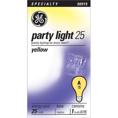 25W 120-Volt Light Bulb Finish: Yellow