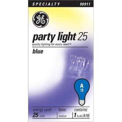 25W 120-Volt Light Bulb Finish: Blue
