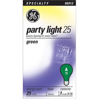 25W 120-Volt Light Bulb Finish: Green