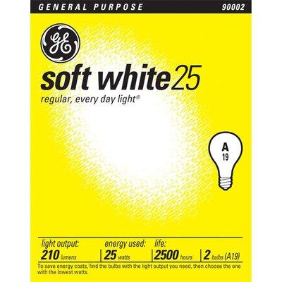 E26/Medium Incandescent Light Bulb Wattage: 25W