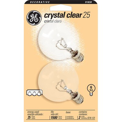 120-Volt (2500K) Incandescent Light Bulb (Pack of 2) Wattage: 25
