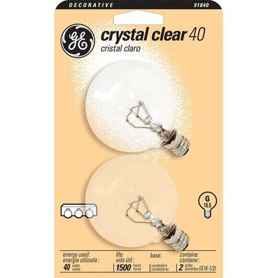 120-Volt (2500K) Incandescent Light Bulb (Pack of 2) Wattage: 40
