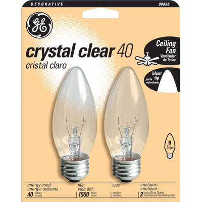 120-Volt (2500K) Light Bulb (Pack of 2) Wattage: 40