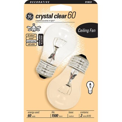 120-Volt Light Bulb (Pack of 2) Finish: Clear, Wattage: 60