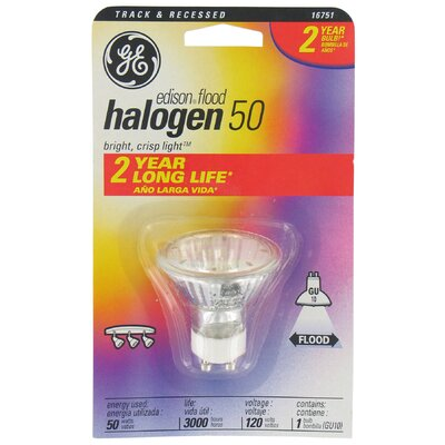 120-Volt Edison Halogen Light Bulb Wattage: 50