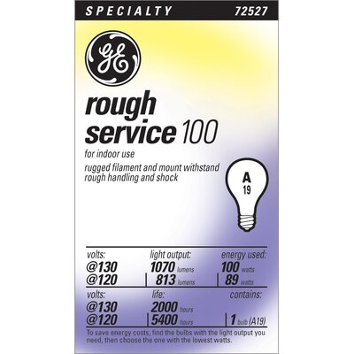 130-Volt Light Bulb Wattage: 100