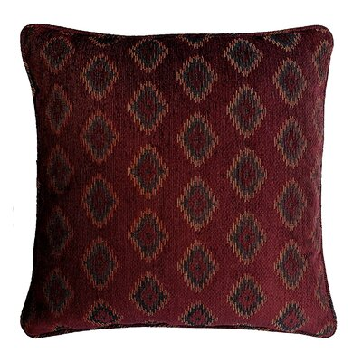 Diamond Jacquard Cotton Throw Pillow