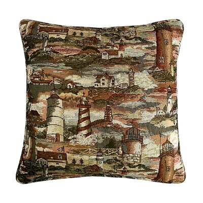 Lighthouse Tapestry Cotton Throw Pillow