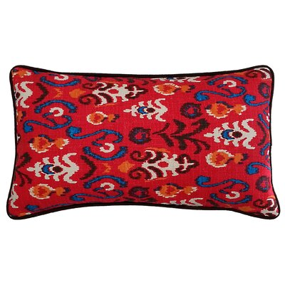 Poppy Cotton Lumbar Pillow