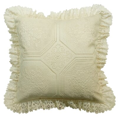 Throw Pillow Color: Ecru