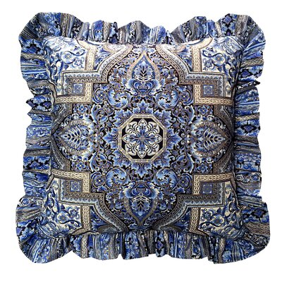 Aegean Ruffled Throw Pillow
