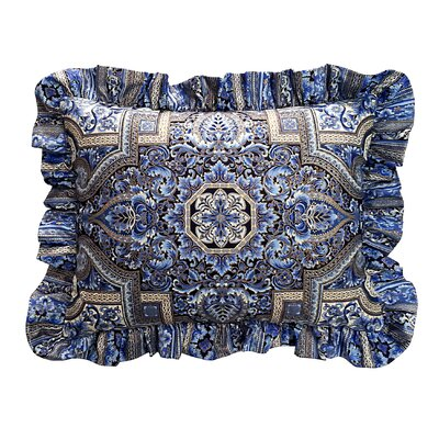 Aegean Ruffled Lumbar Pillow