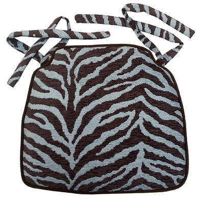 Zebra Stripe Jacquard Chair Cushion