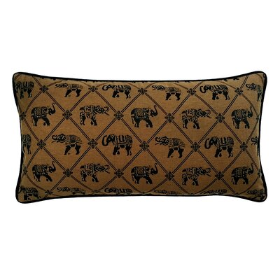 Java Elephant Lumbar Pillow