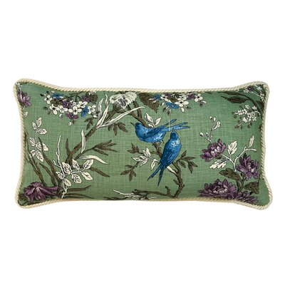 Blue Bird 100% Cotton Lumbar Pillow