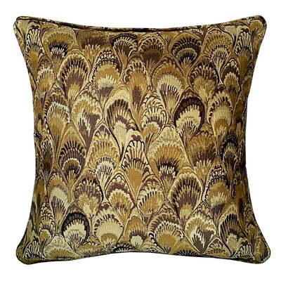 Marbleize Jacquard Throw Pillow Color: Gold