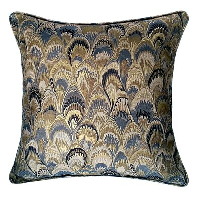 Marbleize Jacquard Throw Pillow Color: Slate