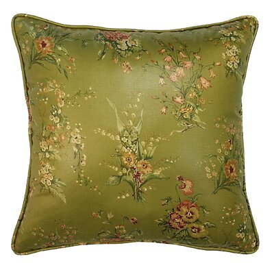 Golden Sage Garden Throw Pillow