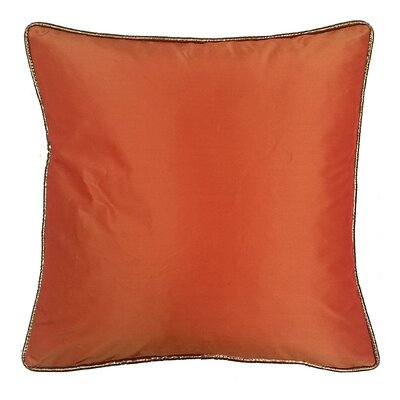 Taffeta Metallic Throw Pillow Color: Copper