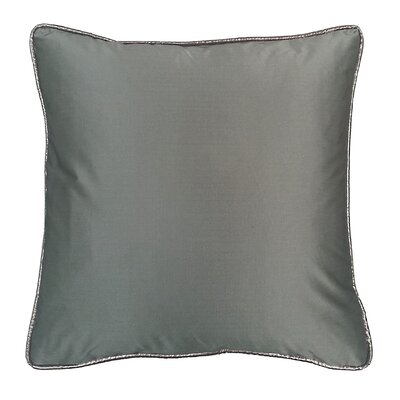 Taffeta Metallic Throw Pillow Color: Graphite