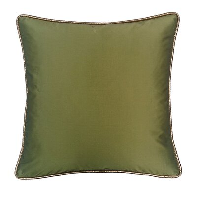 Taffeta Metallic Throw Pillow Color: Peridot
