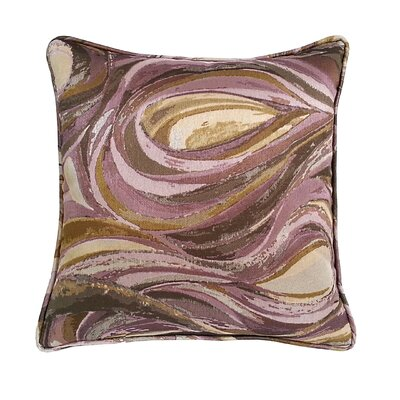 Marinella Abstract Throw Pillow Color: Amethyst