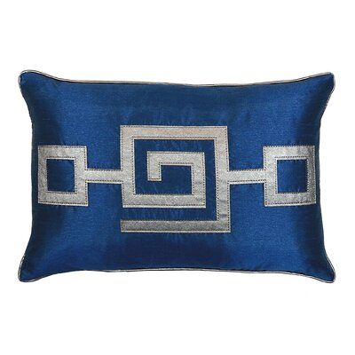 Modern Greek Key Lumbar Pillow Color: Cobalt