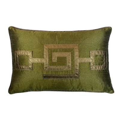 Modern Greek Key Lumbar Pillow Color: Olive