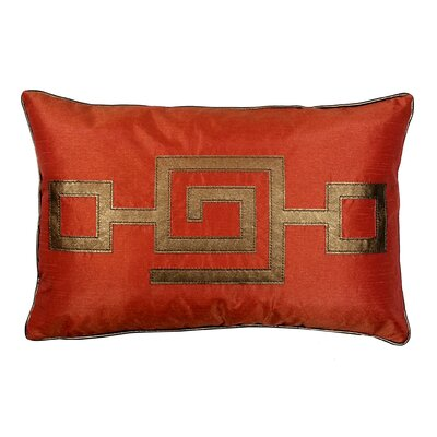 Modern Greek Key Lumbar Pillow Color: Orange