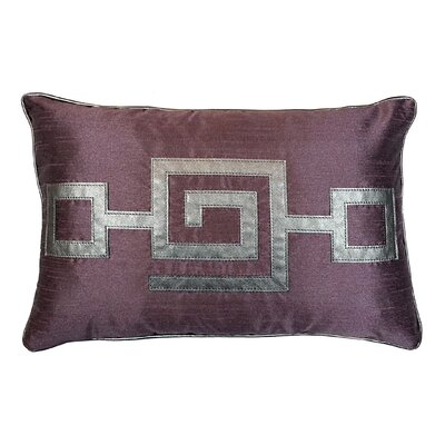 Modern Greek Key Lumbar Pillow Color: Plum