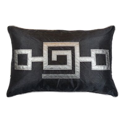Modern Greek Key Lumbar Pillow Color: Smoke