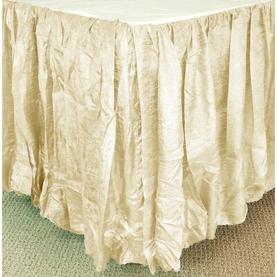 Balloon Bed Skirt Size: King XL, Color: Natural