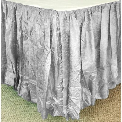 Balloon Bed Skirt Color: Gray, Size: Twin
