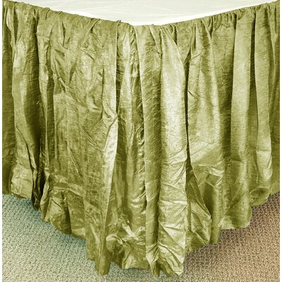 Balloon Bed Skirt Color: Thyme, Size: Queen XL