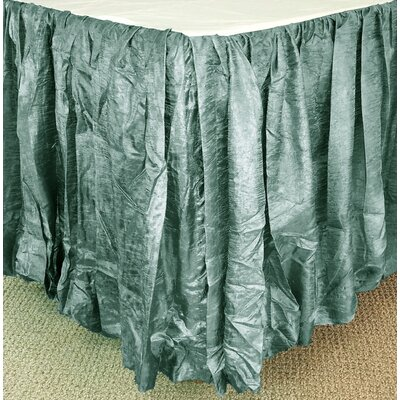 Balloon Bed Skirt Color: Mineral, Size: Queen