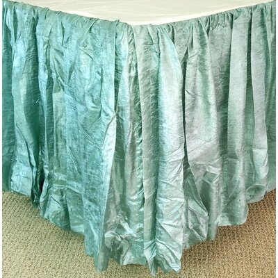 Balloon Bed Skirt Size: Twin, Color: Seafoam