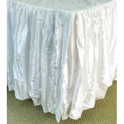 Balloon Bed Skirt Size: Twin, Color: White