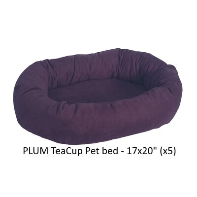 Faux Suede Bolster Dog Bed Color: Plum