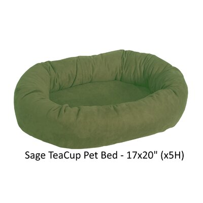 Faux Suede Bolster Dog Bed Color: Sage