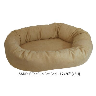 Faux Suede Bolster Dog Bed Color: Saddle