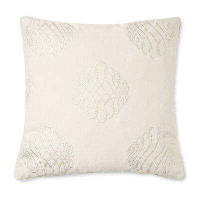 Lille Tourbillon Embroidered Cotton Throw Pillow Color: Cream
