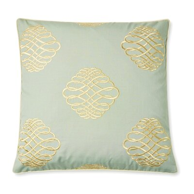 Lille Tourbillon Embroidered Cotton Throw Pillow Color: Mineral
