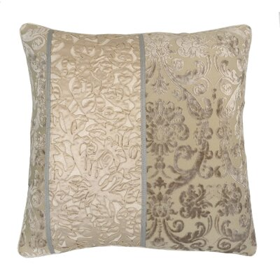 Lille Velvet Embossed Damask Throw Pillow