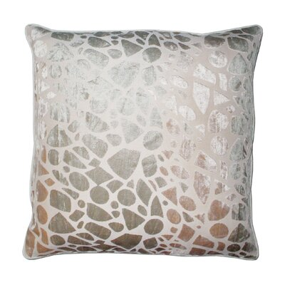 Lille Velvet Embossed Pebbles Throw Pillow Color: Cream/Neutral