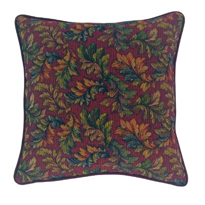Alistar Tapestry Throw Pillow Color: Burgundy