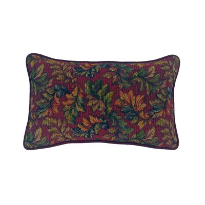Alistar Tapestry Lumbar Pillow Color: Burgundy